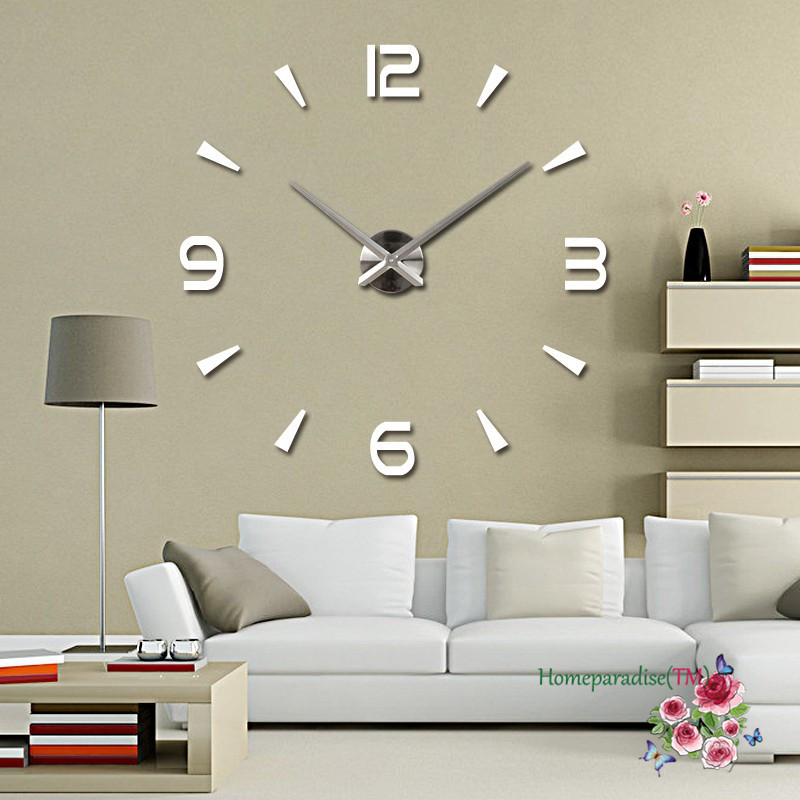 Wholesale 25 40 Arabic Numbers Arrows Large Hands Mirror Wall Clock