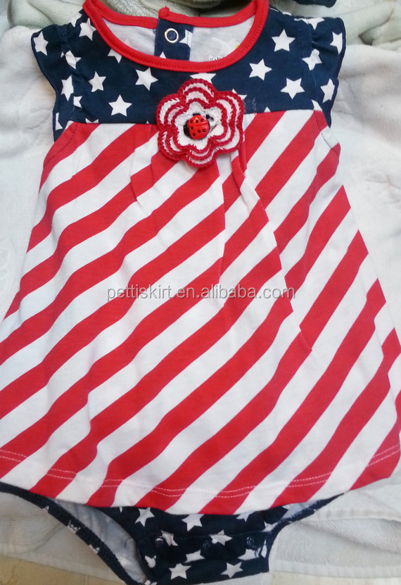 323b74754bc7 Wholesale July 4th America Patriotic boy girl baby Romper Baby clothes  Cotton red white jumpsuit smocked