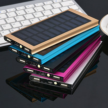 Ganda usb slim mini <span class=keywords><strong>bank</strong></span> daya portabel 20000 mAh solar powered