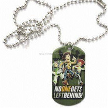 promotional Stainless Steel Metal Dogtag with Necklace