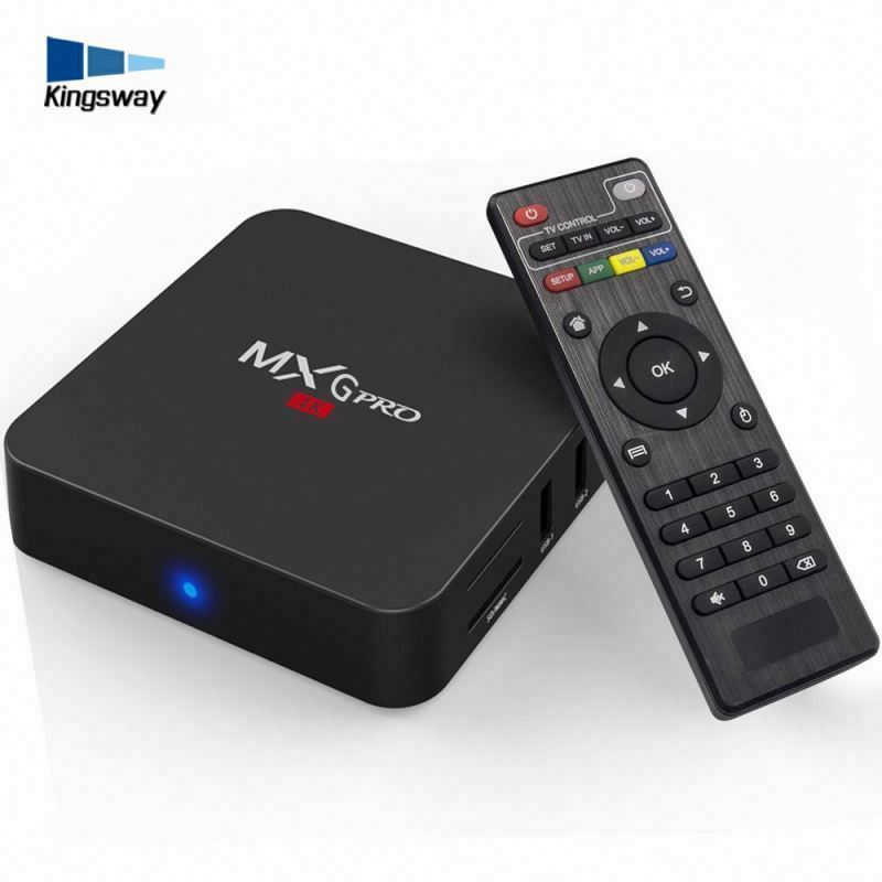 2017 son tv kutusu Mxg pro 4 k android tv kutusu s905x 1 gb ram 8 gb rom hibrid set top box