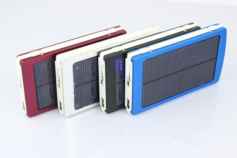 10000mAh 1.5w Universal Battery Charger Solar Powered Backpack Charger USB Solar Panel Power Bank Solar Charger for iPhones MP3