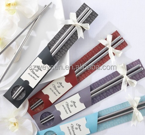 Stainless steel chopsticks +Chinese style wedding favors gifts