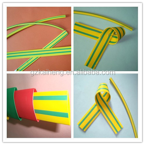 1.6mm,2.4mm,8.0mm,25.4mmHigh temperature yellow green heat shrink tube