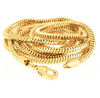 Men's 36 Inch 14k Gold Plated 2.6 mm Snake Chain Hip Hop Necklace