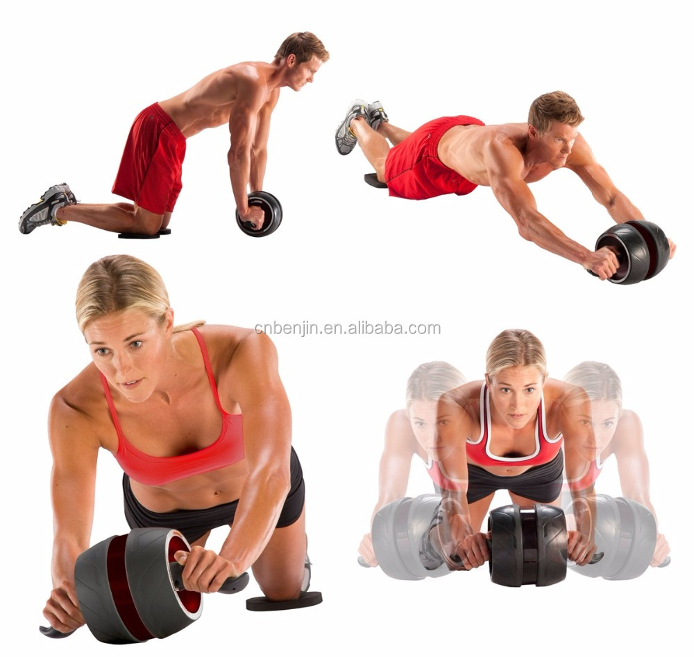 Exercise Roller Wheel Abs Workout Machine Fitness Carver Pro Alat Fitnes Roll Packaging Shipping