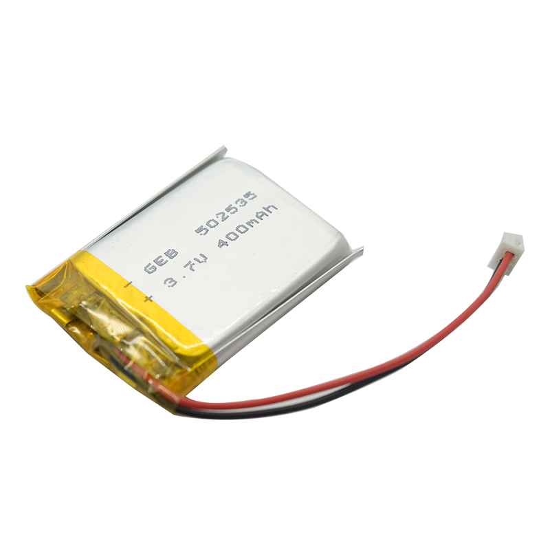 Small size with high capacity battery for led torch flashlight GEB 502535 lithium li-polymer battery 3.7v 400mah