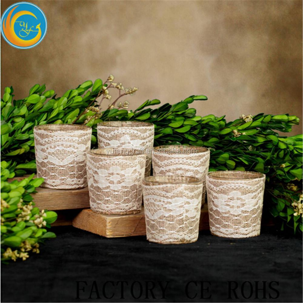 Vela de vidrio transparente porta vasos con la cuerda for Decoracion del hogar con velas
