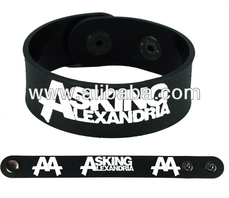 Asking Alexandria Rock Band Rubber Bracelet Wristband Glows In The Dark