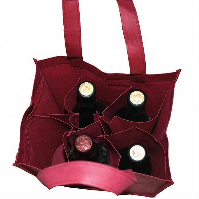 high quality hot sale non woven 6 bottle wine bag