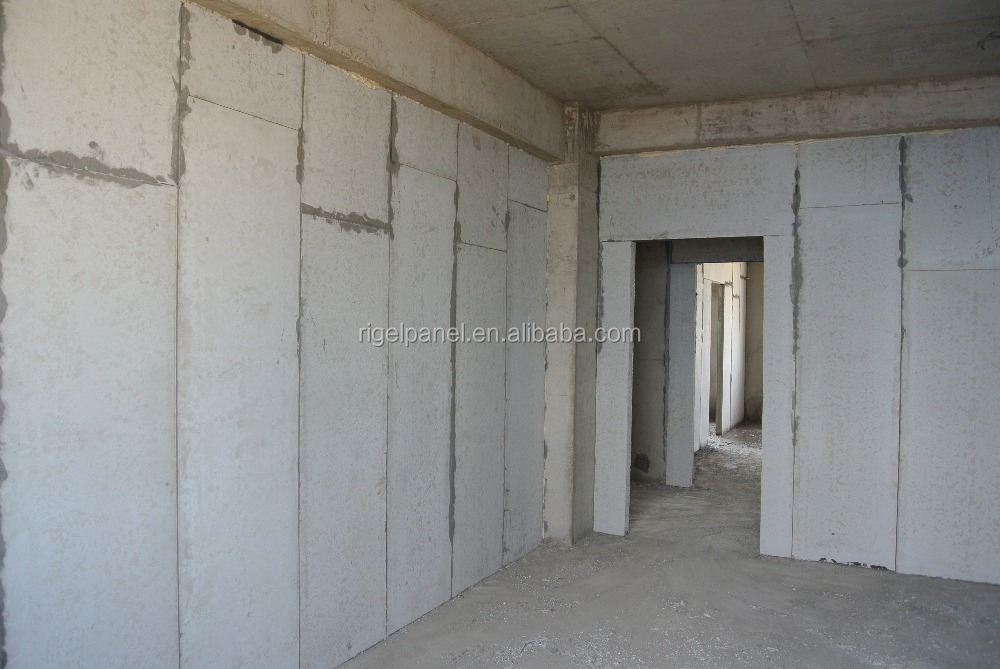 Office Building Light Weight Precast Concrete Wall Panel High Strength Sound Proof Partition Walls