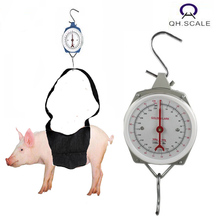portable mechanical spring hanging livestock scale weighing scale for pig with carry sling 200kg