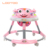 Wholesale China 2019 model 4 in 1 stylish simple rolling round 6 wheels light weight musical baby walker with seat pad