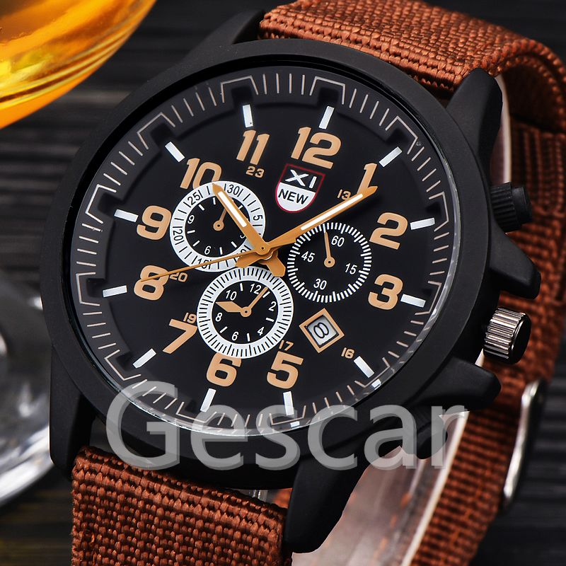 XINEW-2229D original durable nylon fabric strap wrap watch for military men fashion sport watch relojes hombre