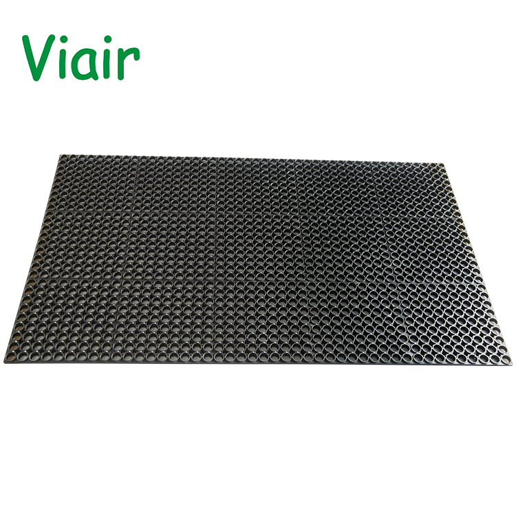 Durable and easy to clean with small hole grip rubber sheet anti slip rubber mat