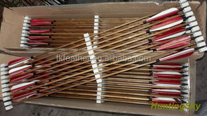 Wholesale Archery Bamboo Arrow With Turkey Feather For Traditional Bow Arrow Hunting