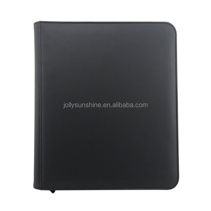 12-pocket Pu Leather Binder With Zipper Closure For Mtg