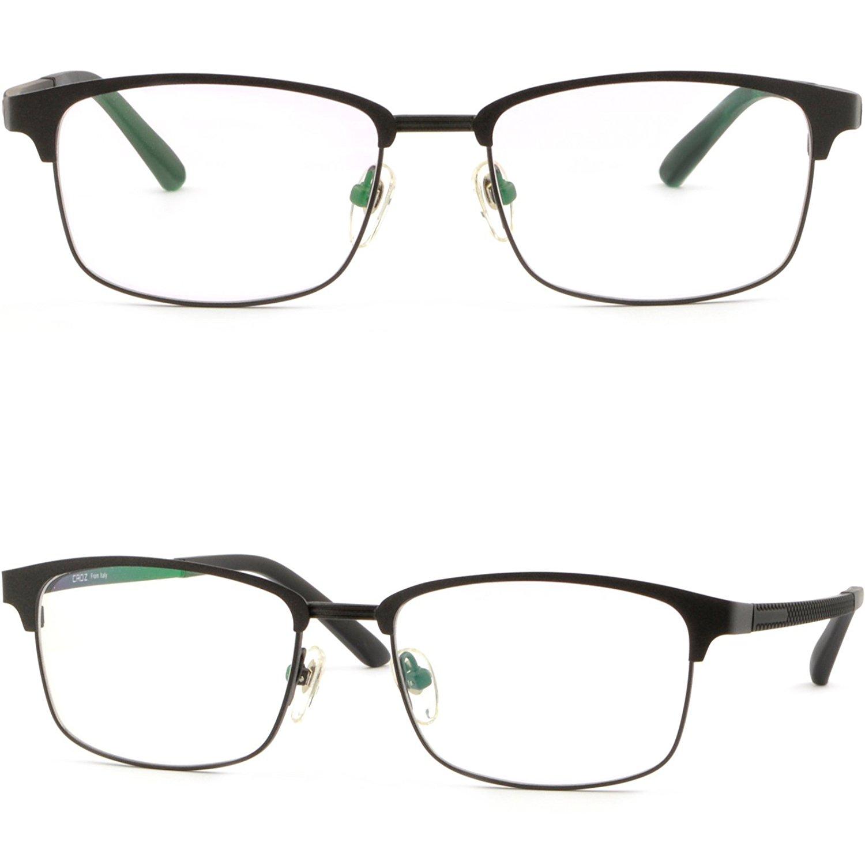 d509ea71fd4 ... Acetate Glasses Eyeglasses Spring Hinges Tortoiseshell. null. null. Get  Quotations · Men Women Light Titatnium Metal Browline Frame Prescription  Glasses ...