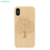 Luxury Laser  Engraving Print Logo Real Blank Wood Phone Case For iPhone 7 Plus X