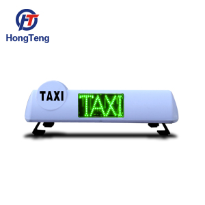 Taxi led display white blank taxi top sign taxi light