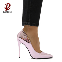 Chinese hot sale women shoe factory wholesale good quality bulk Mirror PU high heels pump