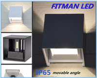 IP65 6w up and down wateproof led wall light outdoor with movable angle
