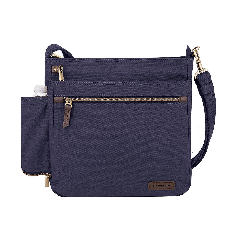 Travelon Women's Anti-Theft Courier N/s Crossbody Cross Body Bag, Navy, One Size