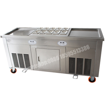 High efficiency double pan fried ice cream roll machinethailand high efficiency double pan fried ice cream roll machine thailand japanese momo fry ice cream ccuart Image collections