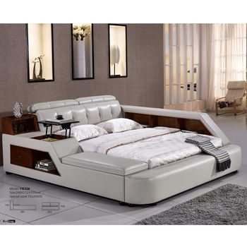 White Genuine Leather Bed French Royal Fancy Bedroom Furniture Sets - Buy  French Bedroom Furniture,Royal Bedroom Furniture Set,Fancy Bedroom  Furniture ...