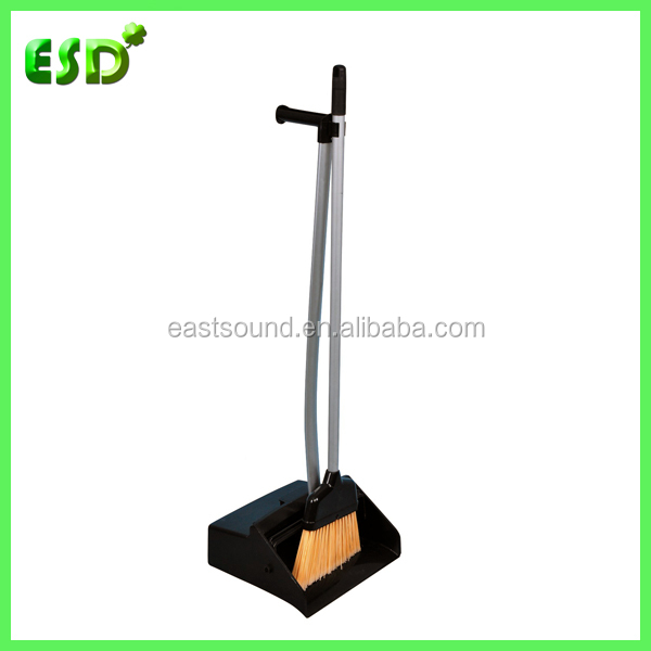 Commercial Long Handle Broom And Dustbin
