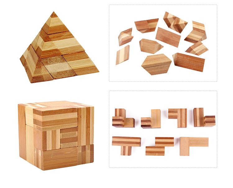 Casse-tête 3D en bois certifié IQ ICTI