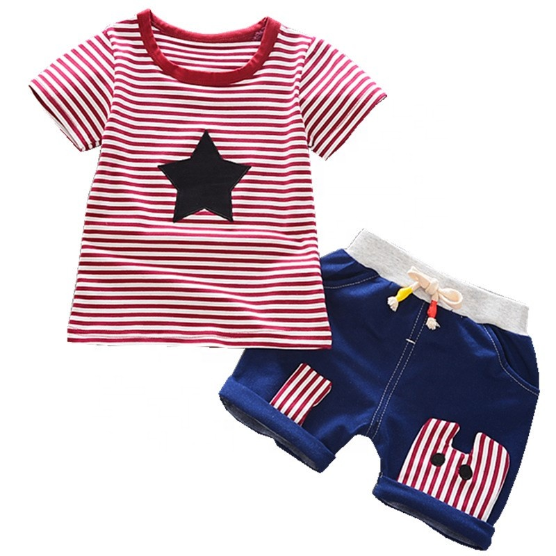 Jeans 2pc Set Childrens Clothes Kids Clothes Exquisite In Loyal Childrens Wear 2018 Spring Summer Baby Kids Boys Sports Casual Suit Boy T-shirt Workmanship