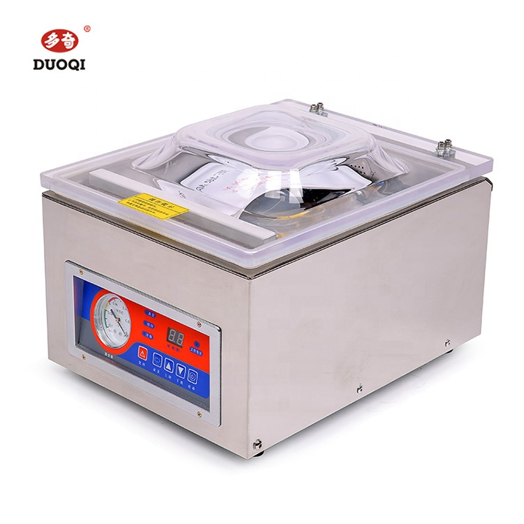 DUOQI DZ-260C single chamber vacuum sealer packaging machine for apparel food beverage commodity chemical