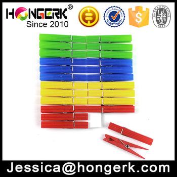 Colored Clothes Line Hanger Peg Clips