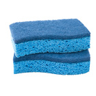 Kitchen cleaning scrubber cellulose sponge scrub with scouring pad