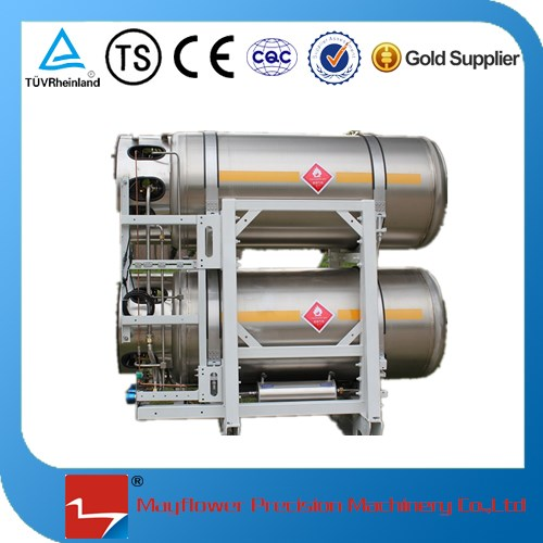 stainless steel cryogenic gas cylinder for liquid nitrogen vehicle