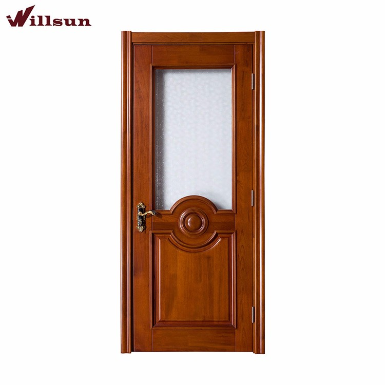 Expertly Engineered Obscured Glass Panel Interior Wood Door With