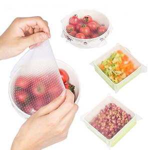 Transparent reusable food wrap stretch film silicone cling film