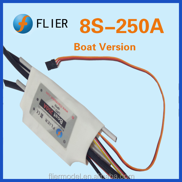250A ESC For Brushless Motor 2-8S LiPo Boat Water Cooled 250 AMP OPTO