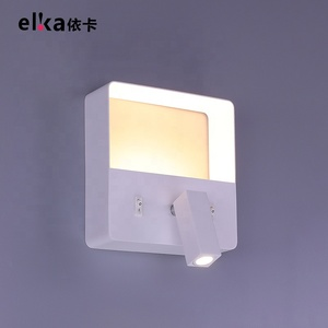 Wholesale modern led hotel bedroom reading usb bedside wall lamp wall sconce