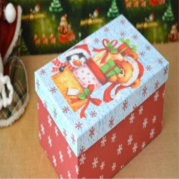 decorative divided cardboard christmas ornament storage box with handles
