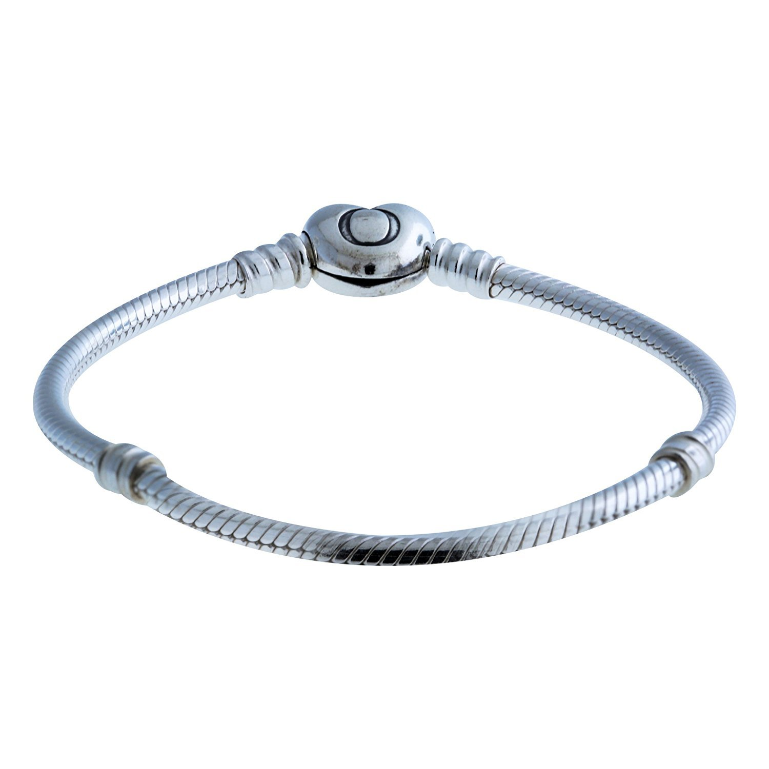 b05d4c297 Get Quotations · PANDORA 590719 Sterling Silver Heart Clasp Bracelet, Gift  Box Included
