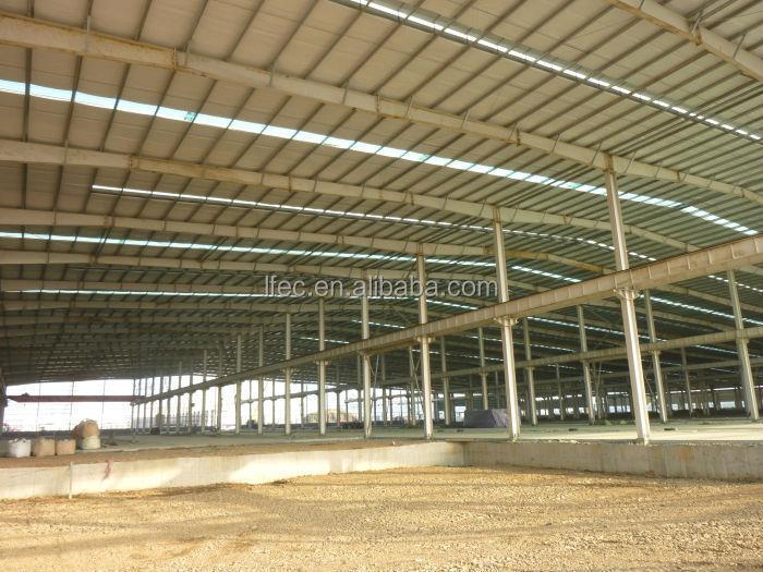Economical galvanized steel structure shed for factory