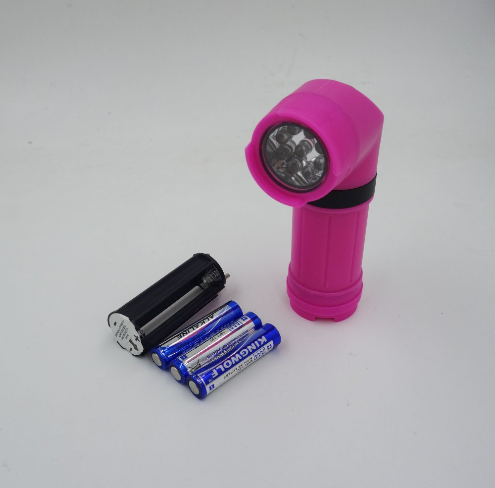 New Design 9 LED Flashlight With Clamp