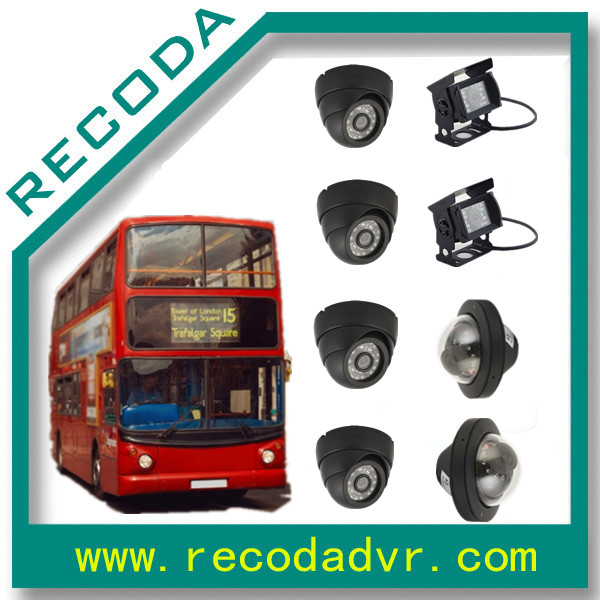 mobile dvr 3g 4g wifi ahd camera 1080P 8 channel cctv camera system for bus