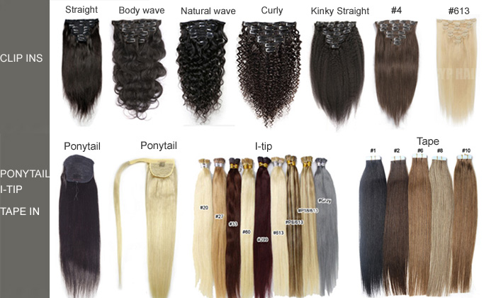 27 Piece Clip In Hair Extensions Affordable 100% Virgin Human Hair Weave Products For Afro Curls