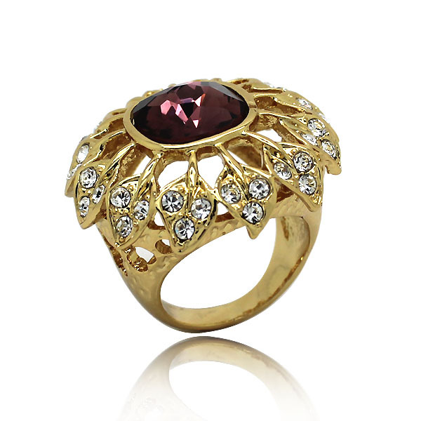 Gold Finger Single Stone Rings Design For Women With Price Buy