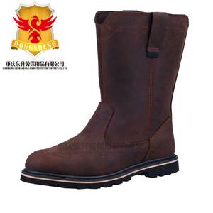 Brown Full Leather army goodyear weltd safty boots with steel toe cap