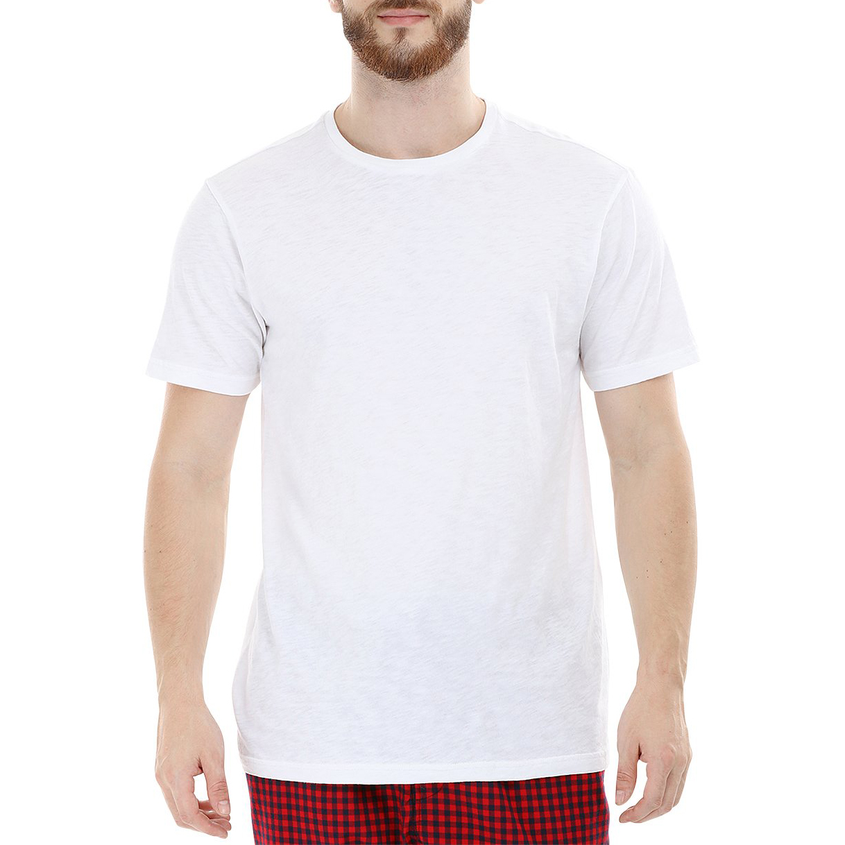 International Basic Source Crew Neck White T-shirt Cotton Fabric For Men