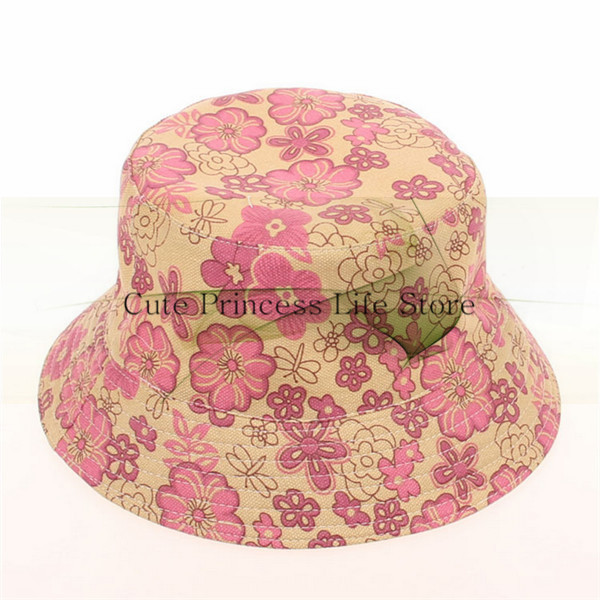 Wholesale wide brim sun visor hat,print pattern bucket hat,sun protection hat
